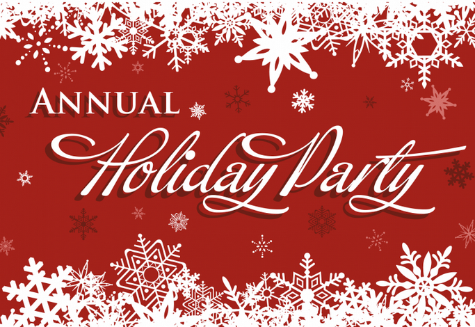 graphic text - Annual Holiday Party